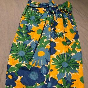 J. Crew morning floral tie waist skirt
